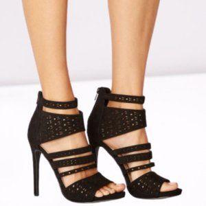 Boardwalk Babe Open Toe Cutout Heeled Sandal